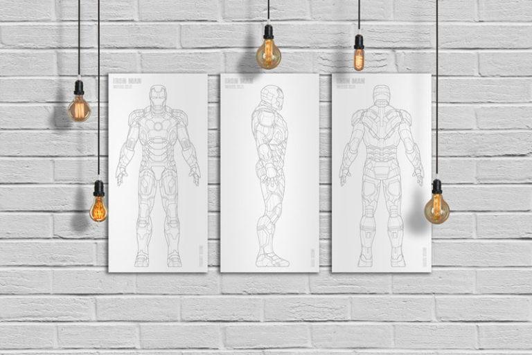 Iron Man Laser Art Metal Home Decor