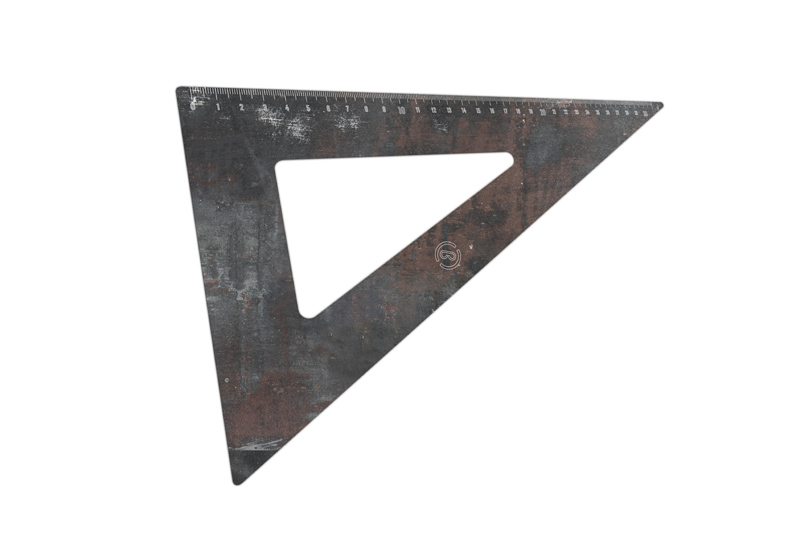 Set square 30°-60°