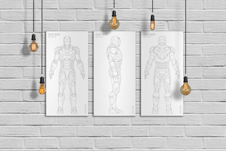Iron Man Laser Art Metal Home Decor